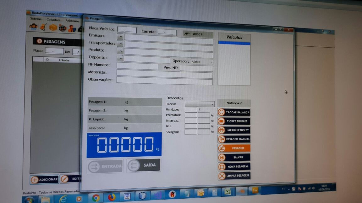 Comprar software para balança rodoviária